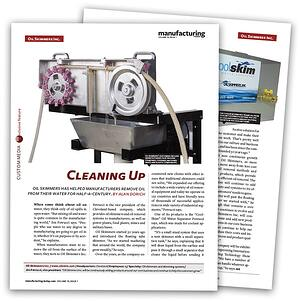 Manufacturing Today article featuring Oil Skimmers, Inc.
