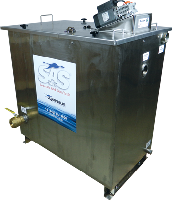 SAS Tank oil water separator with integrated oil skimmer